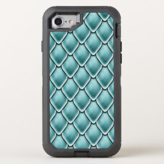 Turquoise Fantasy Scale Pattern OtterBox Defender iPhone 7 Case