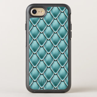 Turquoise Fantasy Scale Pattern OtterBox Symmetry iPhone 7 Case