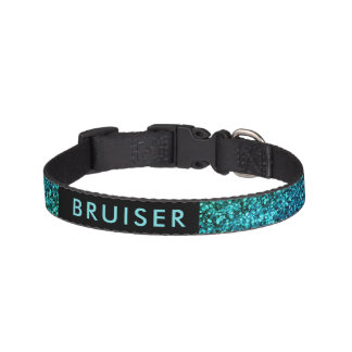 Turquoise Faux Glitter Collar