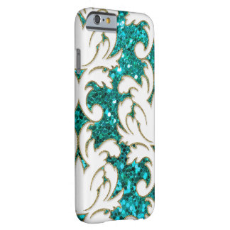 Turquoise Floral Damask Barely There iPhone 6 Case
