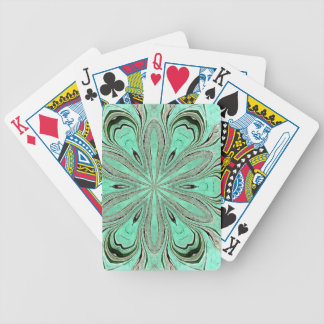 Turquoise flower pattern (K361) Bicycle Playing Cards