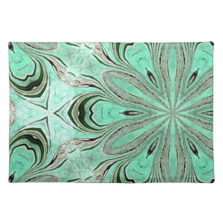 Turquoise flower pattern (K361) Placemat