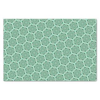 Turquoise flower pattern (K361) Tissue Paper