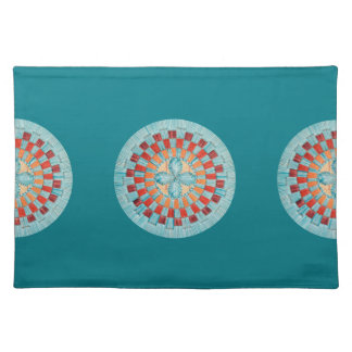 Turquoise Flower Placemat