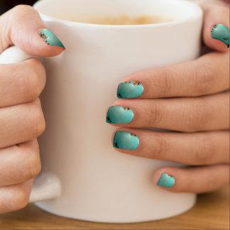 Turquoise Gemstone Image Minx Nail Art