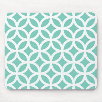 Turquoise Geometric Mouse Pad