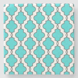 Turquoise Geometric Ornate Stone Coasters Stone Coaster