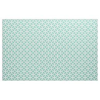 Turquoise Geometric Pattern Fabric