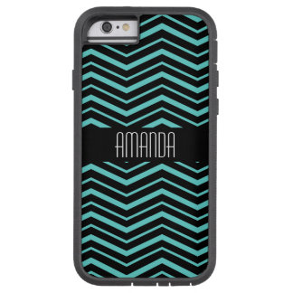 Turquoise Geometric Zig Zag Pattern Tough Xtreme iPhone 6 Case