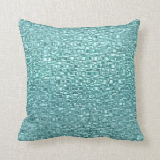 Turquoise Glass Throw Pillow Throw Cushions