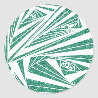 Turquoise Glitter Spiral Pattern on Sticker