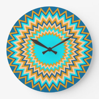 Turquoise Gold Festive Large Clock