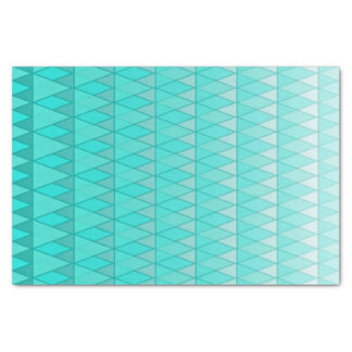 Turquoise Gradient Fading Triangles Print Tissue Paper