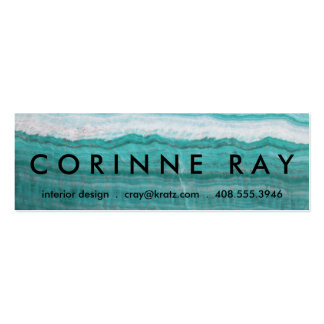 Turquoise Granite Stone Layered Wave Print Business Card Template
