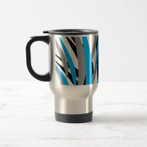 Turquoise Grass Design Mugs