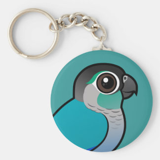 Turquoise Green-cheeked Conure Key Ring