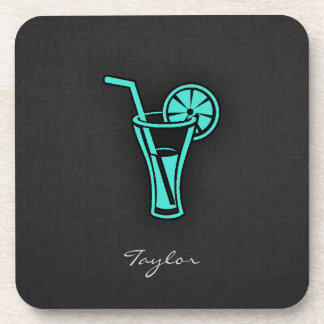 Turquoise Green Cocktail Beverage Coaster