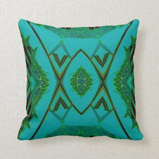 Turquoise Green Diamond Shapes American MoJo Pillo Cushions