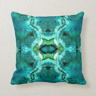 Turquoise Green Pattern American MoJo Pillow