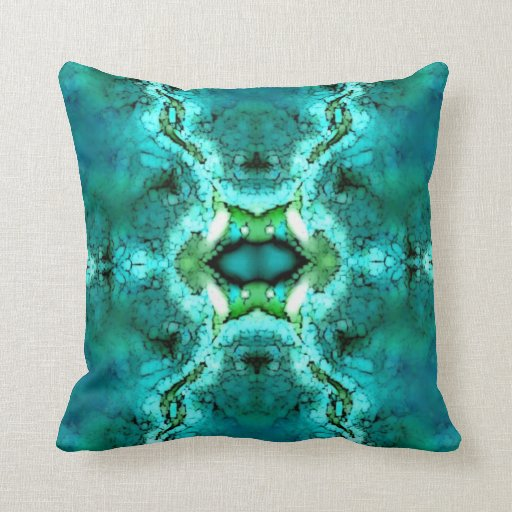 Turquoise Green Pattern American MoJo Pillow