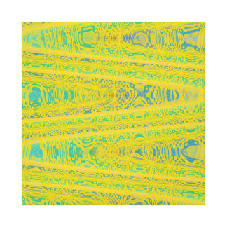 Turquoise Green Yellow Modern Geometric Abstract Gallery Wrapped Canvas