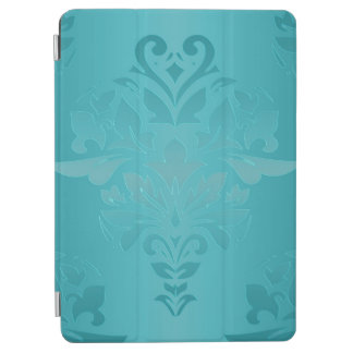 Turquoise Grunge Damask iPad Air Cover
