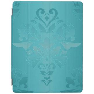 Turquoise Grunge Damask iPad Cover
