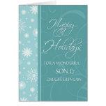 Turquoise Happy Holidays Christmas Card