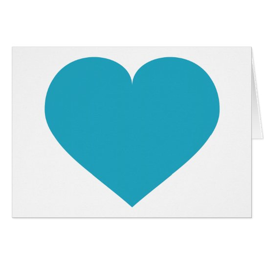 Turquoise heart card