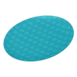 Turquoise Hearts-Two Tone Party Plate