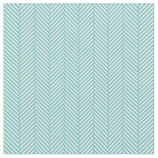 Turquoise Herringbone Fabric