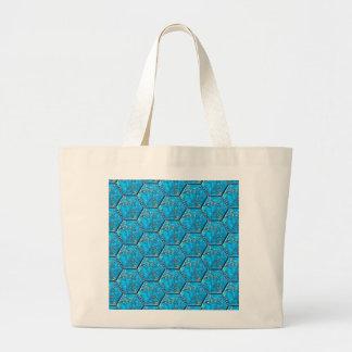Turquoise Hexagon Tiles Tote Bag