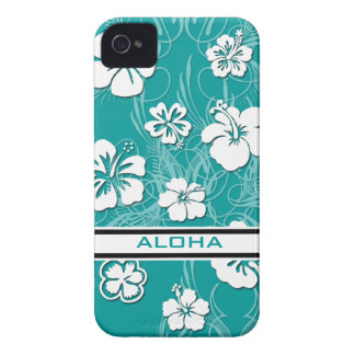 Turquoise Hibiscus Case-Mate ID™ Apple 4/4S Cover iPhone 4 Case-Mate Case
