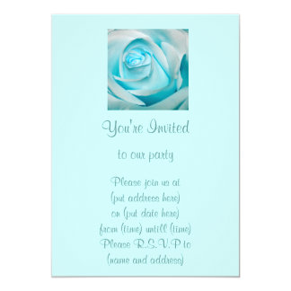 "Turquoise Ice Rose 5"" X 7"" Invitation Card"