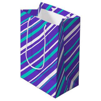 Turquoise & Indigo Stripe Gift Bag