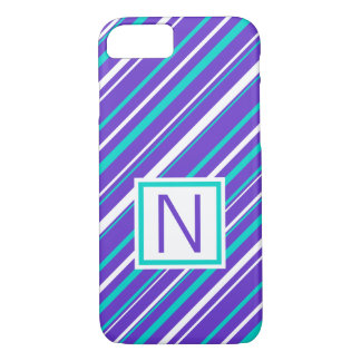 Turquoise & Indigo Stripe Phone Case