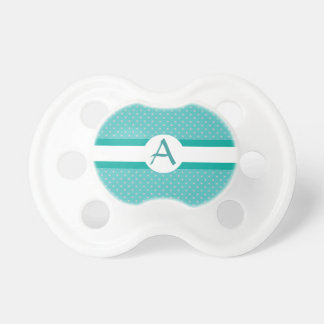 Turquoise Initial Baby Pacifiers