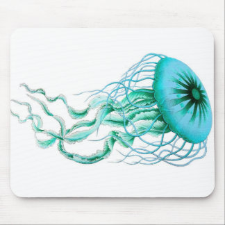 Turquoise Jellyfish Nautical/Beach Mouse Pad
