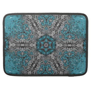 Turquoise Kaleidoscope Rain Sleeve For MacBooks
