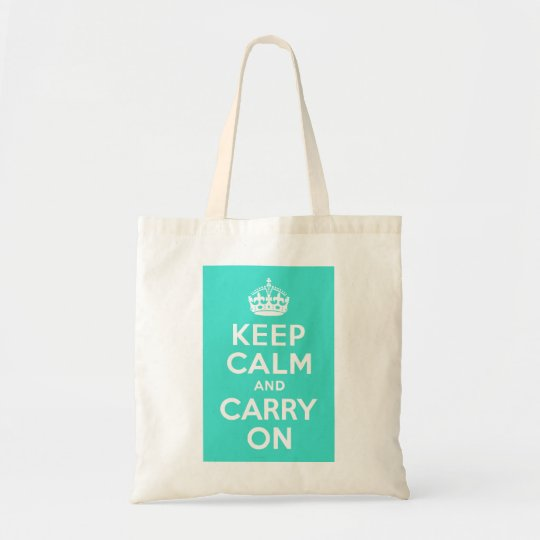 Turquoise Keep Calm and Carry On