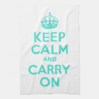 Turquoise Keep Calm and Carry On American MoJo Kit Towels