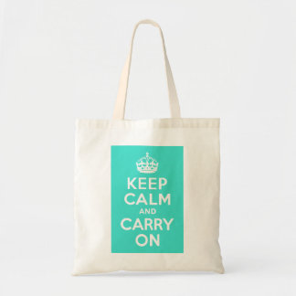 Turquoise Keep Calm and Carry On Bag