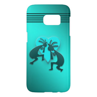 Turquoise Kokopellis with Heart