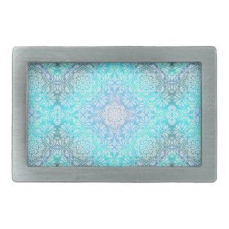 Turquoise Lace Mandala Belt Buckle