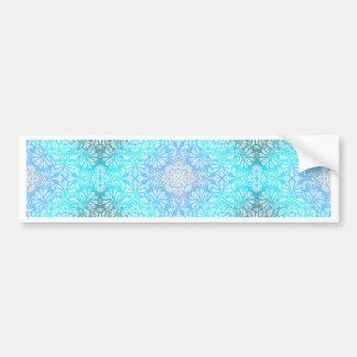 Turquoise Lace Mandala Bumper Sticker