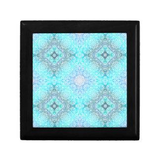 Turquoise Lace Mandala Gift Box