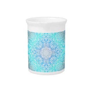 Turquoise Lace Mandala Pitcher