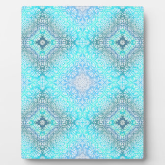 Turquoise Lace Mandala Plaque