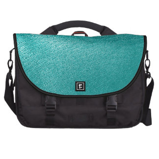 Turquoise Leather Look Computer Bag
