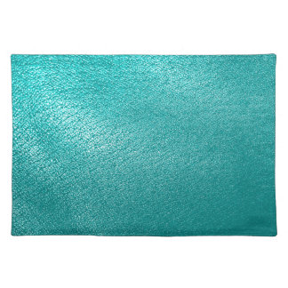 Turquoise Leather Look Placemat